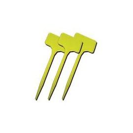 Etiqueta pincho 15 cm amarilla