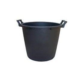 Maceta redonda negra