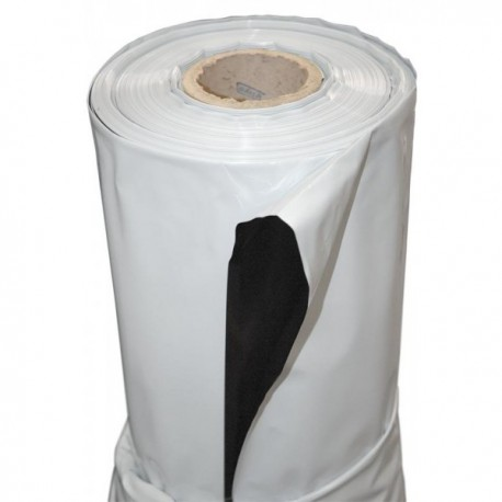 Plástico reflectante blanco-negro 2x1 metros