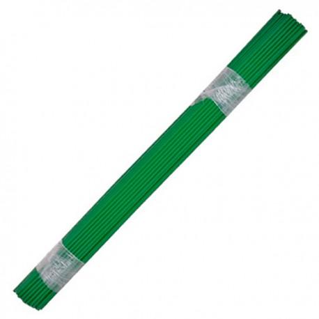 Tutor de plático de 8mm x 100cm, paquete de 50 unidades